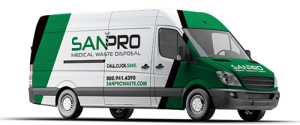 Sanpro medical waste disposal truck